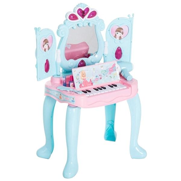 Shop Qaba 2-In-1 Kids Pretend Play Set Piano Princess Vanity