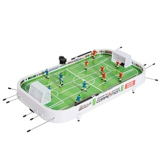 "Aosom 37"" Portable Durable Football Soccer Game Mini Tabletop Classic Kids Foosball Table - Green/White"