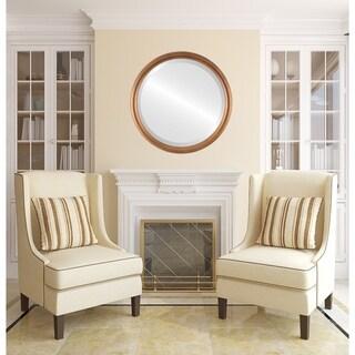 Pasadena Framed Round Mirror in Sunset Gold