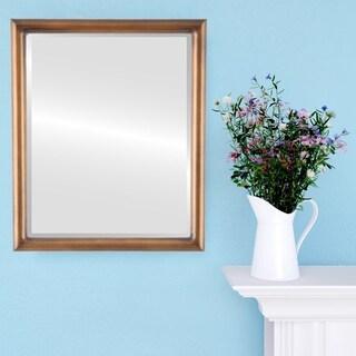 Pasadena Framed Rectangle Mirror in Sunset Gold