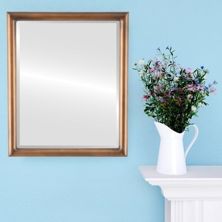 Pasadena Framed Rectangle Mirror in Sunset Gold