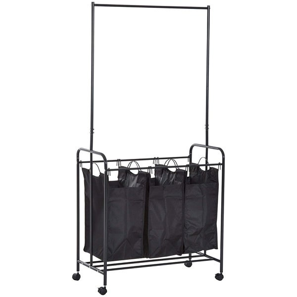 Shop Homcom 3 Bag Heavy Duty Divided Laundry Hamper Sorter