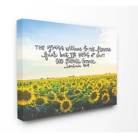 The Stupell Home Décor Collection The Word of God Stands Forever Sunflower Field, Canvas, 16 x 1.5 x 20, Made in the USA