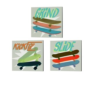 Jarman Fagalde 'SK8R' Canvas Art (Set of 3)