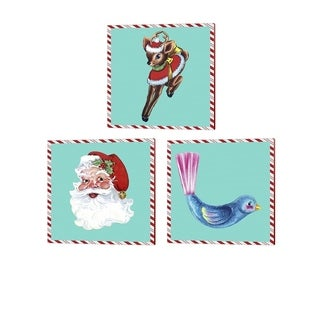 Alicia Ludwig '1955 Christmas' Canvas Art (Set of 3)