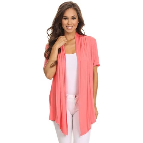 b4e862a0f4 Women s Casual Basic Solid Loose Fit Cardigan