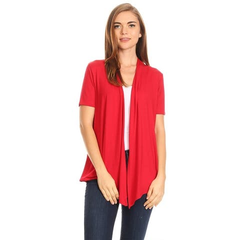 df9e6935c2d Women s Casual Basic Solid Loose Fit Cardigan