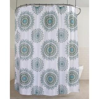 "Splash Home Felia Polyester Fabric Shower Curtain, 70"" x 72"", Sage"