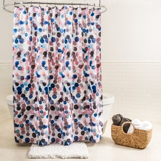 "Splash Home Splish Polyester Fabric Shower Curtain, 70"" x 72"", Blue/Pink"