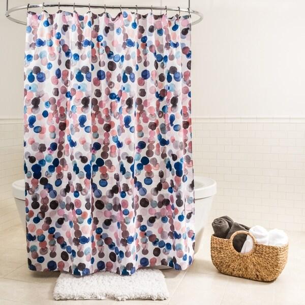 Splash Home Splish Polyester Fabric Shower Curtain 70 X 72