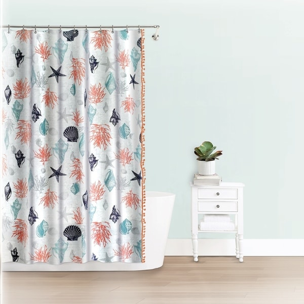 Splash Home Trove Polyester Fabric Shower Curtain 70 X 72