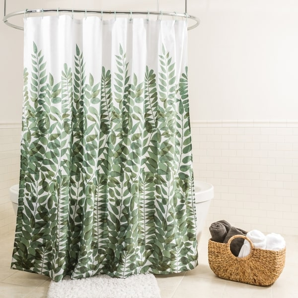 Splash Home Vitalia Polyester Fabric Shower Curtain 70 X 72