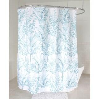 "Splash Home Yin Polyester Fabric Shower Curtain, 70"" x 72"", Aqua"