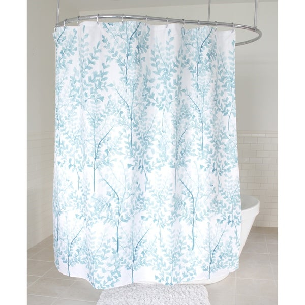 Shop Splash Home Yin Polyester Fabric Shower Curtain 70 X 72 Aqua