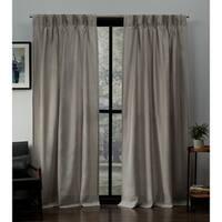 ATI Home Loha Linen Pinch Pleat Window Curtain Panel Pair
