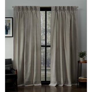 ATI Home Loha Linen Pinch Pleat Window Curtain Panel Pair