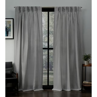 Porch & Den Kapalua Linen Pinch Pleat Window Curtain Panel Pair