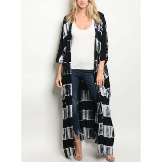 JED Women's Tie Dye Maxi Kimono Cardigan