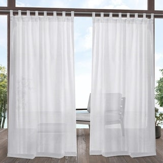 Link to ATI Home Miami Outdoor Tab Top Window Curtain Panel Pair Similar Items in Outdoor Decor