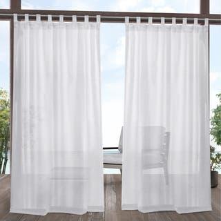 ATI Home Miami Outdoor Tab Top Window Curtain Panel Pair