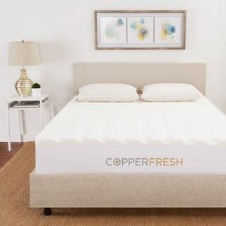 Sleep Studio CopperFresh Wave 4-Inch Foam Mattress Topper