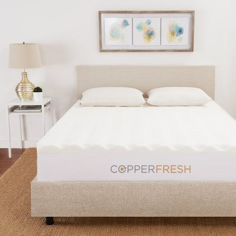 "CopperFresh 3"" Wave Foam Mattress Topper"