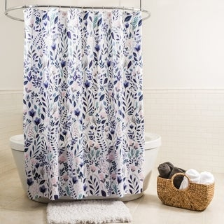 "Splash Home Sia Floral Polyester Fabric Shower Curtain, 70"" x 72"""