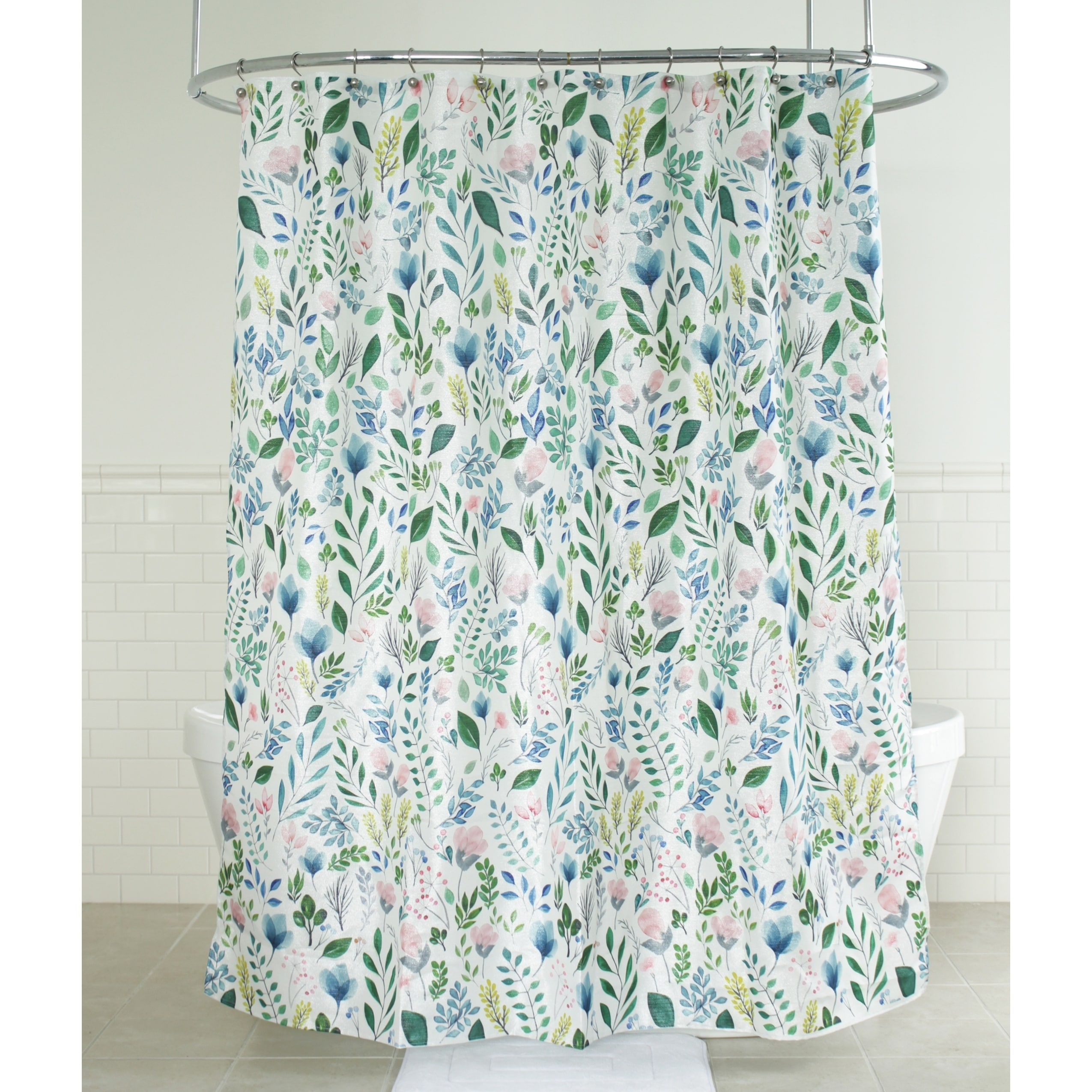 Details About Splash Home Sia Floral Polyester Fabric Shower Curtain 70 X 72