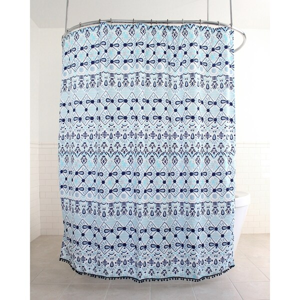Shop Splash Home Inca Polyester Fabric Shower Curtain 70 X 72