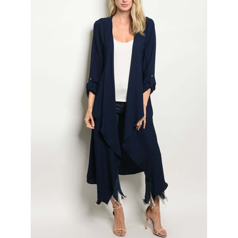 JED Women's Waterfall Maxi Long Sleeve Cardigan