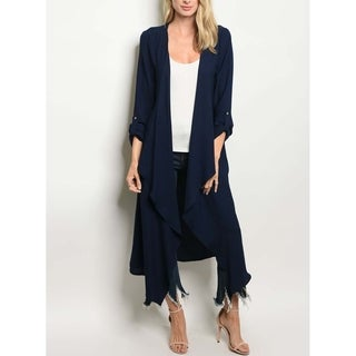 JED Women's Waterfall Maxi Long Sleeve Cardigan