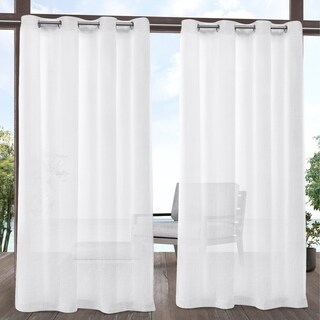 ATI Home Tao Outdoor Sheer Linen Grommet Top Curtain Panel Pair