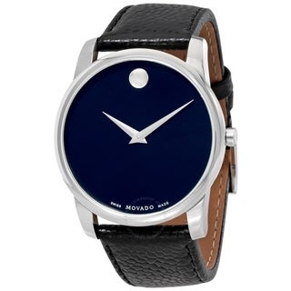 Movado Men's 0607013 'Museum' Black Leather Watch