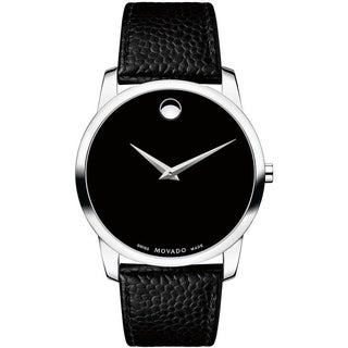Link to Movado Men's 0607012 'Museum' Black Leather Watch Similar Items in Men's Watches