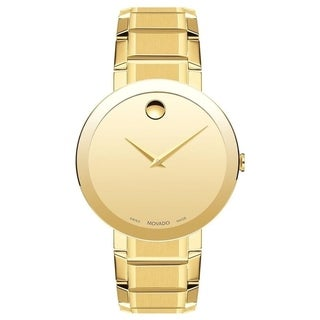 Movado Men's 0607180 'Sapphire' Gold-Tone Stainless Steel Watch