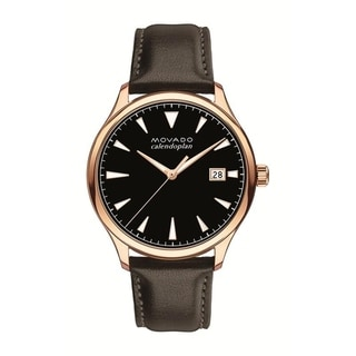 Link to Movado Men's 3650020 'Heritage' Brown Leather Watch Similar Items in Men's Watches
