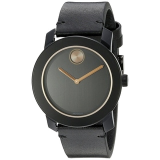 Link to Movado Men's 3600297 'Bold' Black Leather Watch Similar Items in Men's Watches