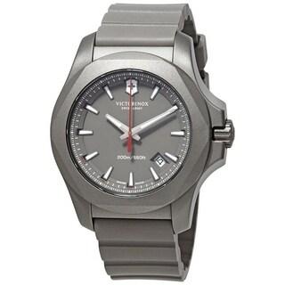 Victorinox Swiss Army Men's 241757 'I.N.O.X' Grey Rubber Watch