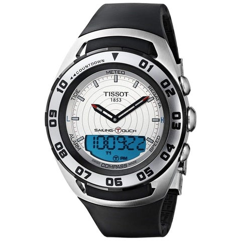 Tissot Men's T0564202703100 'Sailing Touch' Analog-Digital Black Rubber Watch