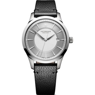 Victorinox Swiss Army Men's 241823 'Alliance' Black Leather Watch