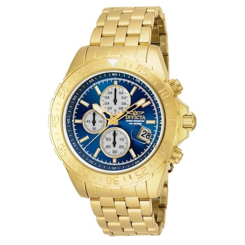 Invicta Men's 18855 'Aviator' Multi-Function Gold-Tone Stainless Steel Watch