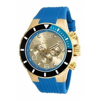 Invicta Men's 18740 'Pro Diver' Chronograph Blue Polyurethane Watch