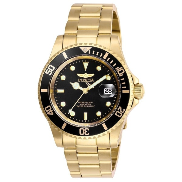 f295a5123 Shop Invicta Men's 26975 'Pro Diver' Gold-Tone Stainless Steel Watch - Free  Shipping Today - Overstock - 23043239