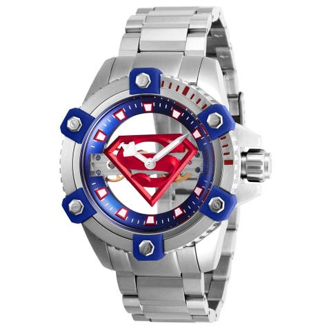 Invicta Men's 26842 'DC Comics' Superman Mechanical Stainless Steel Watch