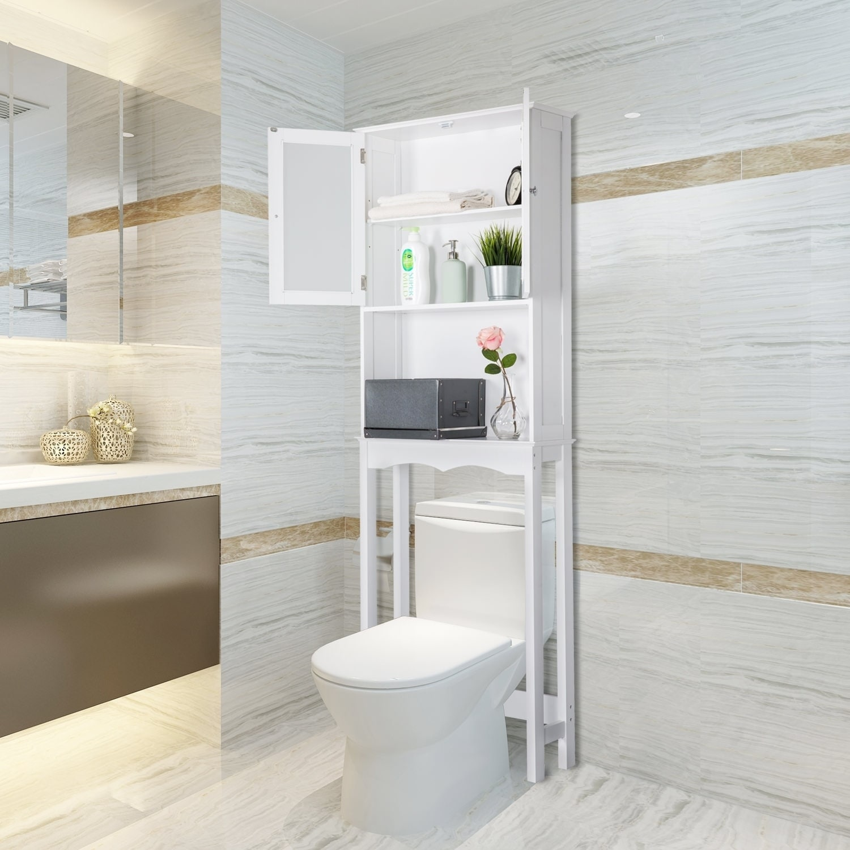 Shop Kinbor Bathroom Organizer Over The Toilet Bathroom Space