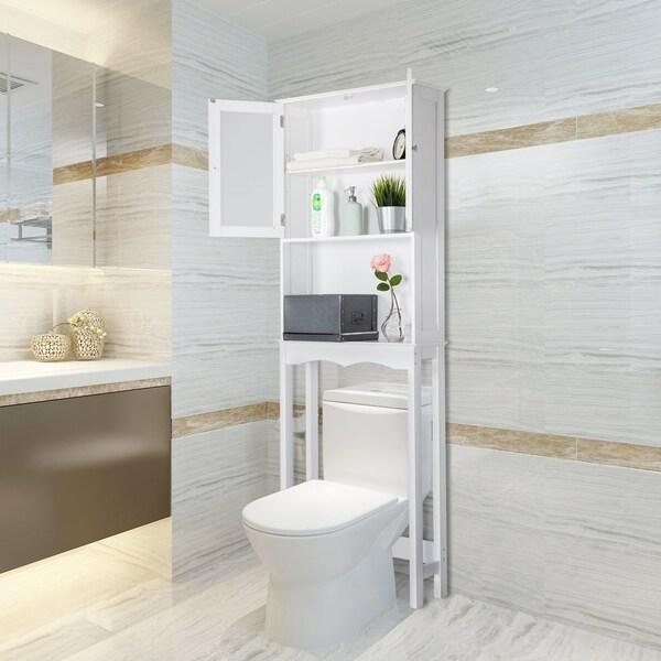 shop kinbor bathroom organizer over the toilet storage