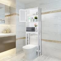 Kinbor Bathroom Organizer Over the Toilet Storage Shelf Bathroom Spacesaver Bathroom Cabinet Shelf
