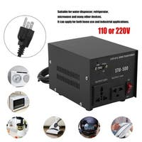 500W Power 110 Or 220V Voltage Converter Step Up&Down Transformer With USB - us plug/black