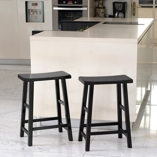 """Cambridge Casual Lucca 24"""" Counter Stool - Black (set of 2)"""