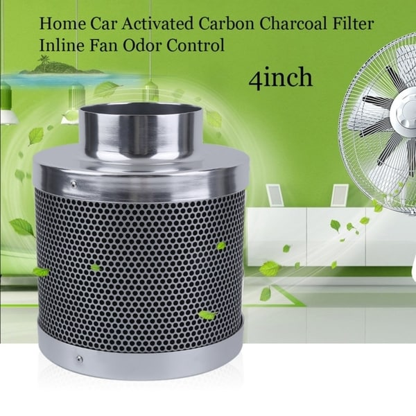 Shop 4/6/8inch Home Car Activated Carbon Charcoal Filter Inline Fan